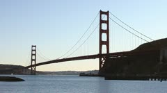 Golden Gate Bridge at Sunset - stock footage