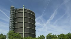 Gasholder Time lapse Stock Footage