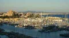 Palma de Mallorca harbor time lapse Stock Footage