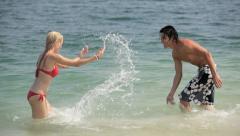 Resort flirt - stock footage