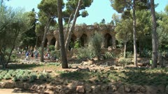 Park Güell Stock Footage