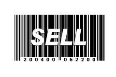 Stock Illustration of sell written on barcode