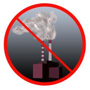 Stop the pollution sign Stock Illustration