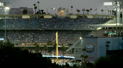 Time Lapse of Dodger Stadium at Night - Los Angeles Stock Footage