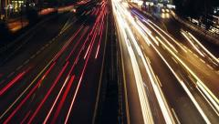 Traffic trails Stock Footage