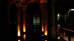 The Basilica Cistern in Istanbul, Turkey Stock Footage