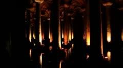 The Basilica Cistern in Istanbul, Turkey Stock Footage