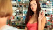 Stock Video Footage of Shopping Perfume