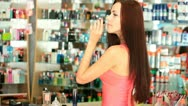 Stock Video Footage of Perfume Shopping
