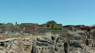 Ruins of ancient city pompeii Stock Footage