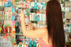 Shopping Cosmetics Stock Footage