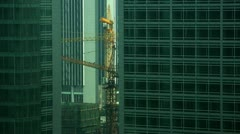 Timelapse construction cranes Stock Footage