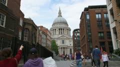 London 1080p St Pauls side - stock footage