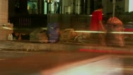 Timelapse homeless person Stock Footage