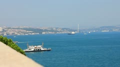 The Bosphoros Strait in Istanbul, Turkey Stock Footage