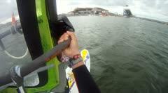 windsurfer POV  - stock footage
