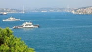 Stock Video Footage of The Bosphoros Strait in Istanbul, Turkey