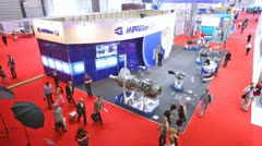 Ivchenko design office represents engines on exhibition - stock footage