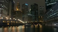 Timelapse Chicago River Stock Footage