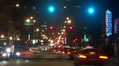 Timelapse intersection traffic Stock Footage
