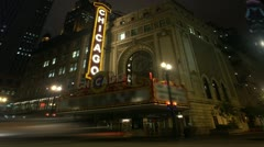 Timelapse Chicago Theater - stock footage