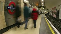 Timelapse England subway Stock Footage