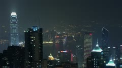Timelapse Hong Kong skyline Stock Footage