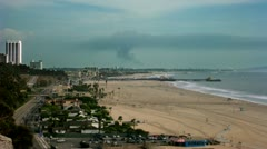 Timelapse Santa Monica - stock footage