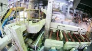 Machine blow off steam in course of work on rolling mill Stock Footage