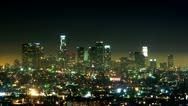 Timelapse Los Angeles skyline Stock Footage