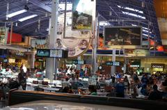 Shopping Mall Food Court 1 - stock photo