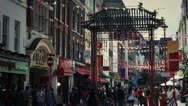 Stock Video Footage of Famous London Scenes - Busy Streets of Chinatown, UK - HD