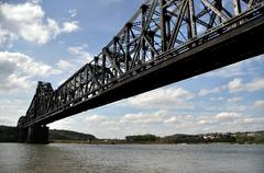 Large Railroad Bridge - stock photo