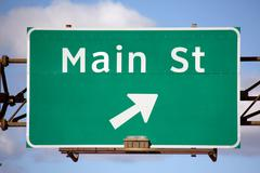 Main Street Sign - stock photo
