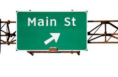 Stock Photo of Main Street Sign Isolated