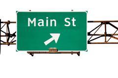 Main Street Sign Isolated Stock Photos