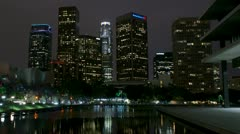 Timelapse Los Angeles skyline Stock Footage