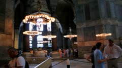 The Hagia Sophia in Istanbul, Turkey Stock Footage