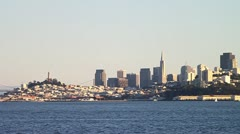 Transamerica Building and Coit Tower in San Francisco Stock Footage