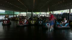 Timelapse bumper cars Stock Footage
