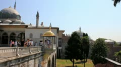 Topkapi Palace and Museum in Istanbul, Turkey Stock Footage