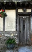historic doorway in doret england - stock photo
