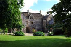 grand gatehouse in dorset england - stock photo