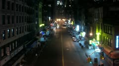 Timelapse Chinatown traffic Stock Footage