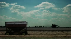 Timelapse combine tractor Stock Footage