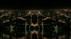 Timelapse city special effects - stock footage