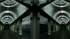 Timelapse subway kaleidoscope Stock Footage
