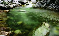 Stock Photo of river near horezu, romania