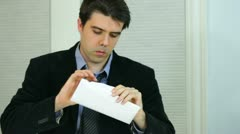 young business man being fired youre unemployed unemployment - stock footage