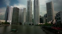 Timelapse Singapore CBD Stock Footage